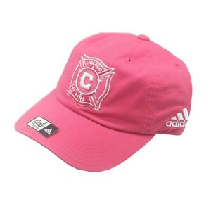 Chicago Fire Official MLS Adidas Youth Girls OSFM Adjustable Back Hat Cap New
