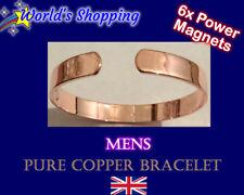 Mens 2 in 1 Pure Copper Bracelet + 6 Magnets