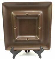 "Vintage Hyalyn Pottery Square Ashtray 774 Brown 9x9"" Cork Back"