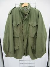 K4245 VTG US ARMY Flyers M-65 Cold Weather Field Military Jacket Size M