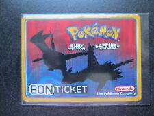 Pokemon Ruby Sapphire Nintendo Power Eon Ticket Promo E Reader Card Latios Latia