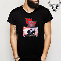 Thin Lizzy Live And Dangerous Rock Band Legend Men's Black T-Shirt Size S to 3XL