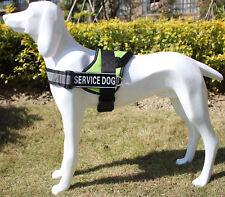 Reflective Service Dog Harness Vest w/ Removable 2 Patches 13 colors 4 sizes