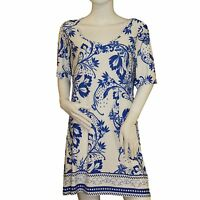 Ladies Scoop Neckline Short Sleeve Shift Dress Holiday Beach Pool Cover Up