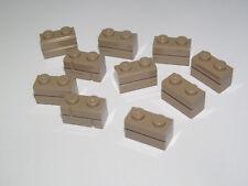 Lego ® Lot x10 Briques 1x2 Mur Beige Morceaux Brick Masonry Dark Tan 98283 NEW