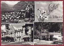 AOSTA SAINT VINCENT 92 SALUTI da... VEDUTINE Cartolina FOTOGRAFICA