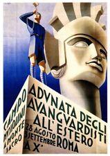 1930's Italian Political  Poster Mussolini A3 reprint