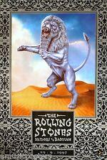 "ROLLING STONES ""BRIDGES TO BABYLON 29-9-1997"" U.K. PROMO POSTER - Mick Jagger"