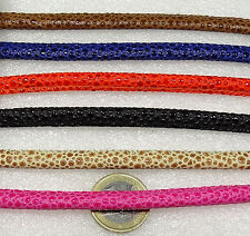 6 Piezas de Cuero Polipiel 6mm  A207  Bisuteria Leder Leather Cuir Perles Beads
