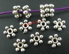 30pz  perline margherita spacer separatori  6mm colore argento tibet