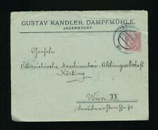 10 Heller Privat-Ganzsachenbrief 1905 aus Jägerndorf, Dampfmühle (P10)