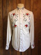 vtg ROCKMOUNT western COWBOY shirt MEDIUM 46 chest ROCKABILLY rockstar BIKER vgc
