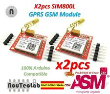 2pcs SIM800L GPRS GSM Module PCB Antenna SIM Board Quad band for MCU Arduino