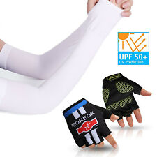 Arm Sleeves Sun Uv Protection Cover Bicycle Basketball Sport Arm warmer in White