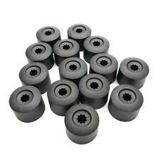 20x Car Wheel Nut Bolt Tire Screw Cover Cap 17mm ABS Plastic Black Universal