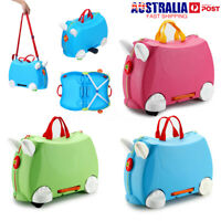 3 Colors Kids Travel Hand Luggage Package Case Carry Ride on Suitcase Toy