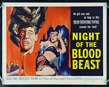 NIGHT OF THE BLOOD BEAST * CineMasterpieces MONSTER HORROR MOVIE POSTER 1958