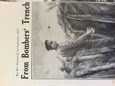 a1l ephemera 1917 ww1 picture british soldier with pineapple grenade in trench