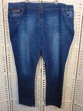 Evans Blue Skinny Slim Jeans 28 32L Mid Rise Stretch Denim Trousers Plus Size