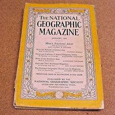 National Geographic Magazine January 1936  Central Asia Tribes Birds Auks Ads