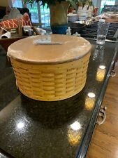 Longaberger Hatbox Basket With Lid