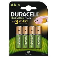 4 X Duracell AA 1300 mAh Pre/Stay Charge Baterías Recargables NiMH HR6 Teléfono