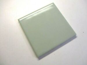 """Florida USA FT 4-3/8"""" Square 1970s Ceramic Gloss Very Pale Green 1 Wall Tile Vtg"""