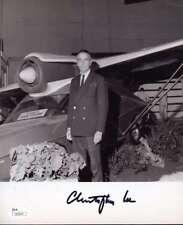 CHRISTOPHER LEE JSA COA Hand Signed 8X10 Photo Autograph Authenticated