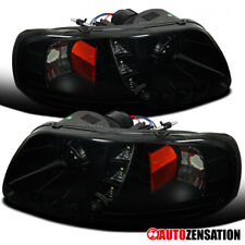 For 1997-2003 Ford F150 SMD LED DRL Black Smoke Projector Headlights Lamps Pair