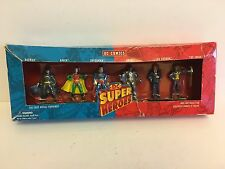 dc super heroes diecast metal figurines Warner Brothers 1997