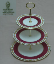 "Wedgwood ""Whitehall"" (Ruby, W3994)  THREE TIER CAKE STAND"