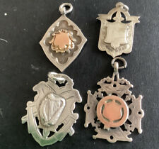 More details for 4 silver fobs, 1 irish and 2 with rose gold cartouche