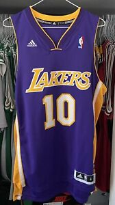 NBA LOS ANGELES LAKERS STEVE NASH JERSEY SWINGMAN ADIDAS NBA SIZE S PURPLE