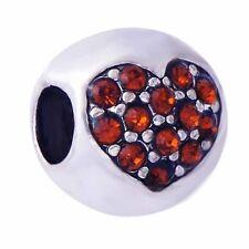 5pcs european silver heart Charm lot Bead Loose bracelets free shipping