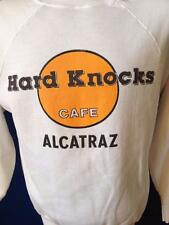 Vintage Parody Hard Knocks Cafe Alcatraz The Rock White Sweatshirt Shirt Large