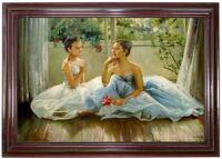 Ölbild Ballerina Ölmalerei Portraitmalerei ÖLGEMÄLDE HANDGEMALT F:60x90