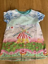 OILILY PRETTY GIRLS DRESS 4 YRS CUTE SUMMER HOLIDAY FLORAL SUN HOLIDAY BEACH FIT