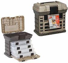Plano Tackle Box 4 Tray Fishing Tool Organizer Storage Lures Bait Tools Bag New