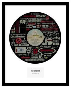 GHOSTBUSTERS  - MEMORABILIA - VINYL RECORD LYRIC ART - Ideal Gift