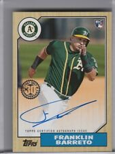 2017 TOPPS #87A-FB FRANKLIN BARRETO AUTOGRAPH ROOKIE RC ATHLETICS 6108
