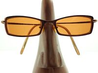 Vintage Kashiyama BI-17 Rectangle Bronze Eyeglasses Sunglasses Frames Japan
