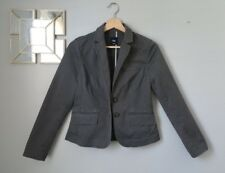 Gap Women's Gray Two Button Blazer With Pockets - Size 4