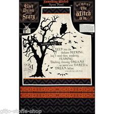 Wicked Apron Panel Grembiule per cucire-patchwork tessuto sostanze Halloween Gothic