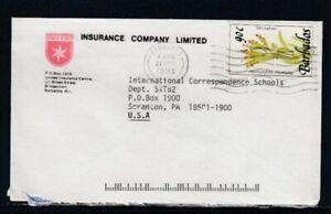 BARBADOS Commercial Cover Bridgetown to Scranton, PA 27-8-1993 Cancel