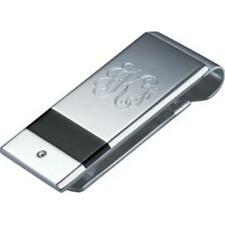 Visol VMC714 Dante Crystal Inlaid Stainless Steel Engraved Money Clip