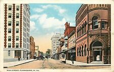 West Virginia, WV, Clarksburg, Main Street 1917 Postcard