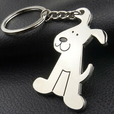 Adorable Dog Puppy Metal Keychain Key Chain Ring Keyring Key Fob Funny Gift