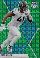 2020 Panini Mosaic Green Prizm Josh Allen #102 Jacksonville Jaguars