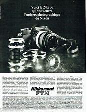PUBLICITE ADVERTISING 026 1969   Nikon appareil photo Nikkromat FTN 2