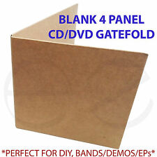 Cardboard CD/DVD 4 panel Gatefold Sleeve *Great for Bands,Demos,EP,DIY* 50 pack